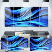 Designart 'Blue and Black Transition' Metal Wall Art