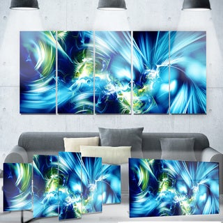 Designart 'Green and Blue Shine' Metal Wall Art