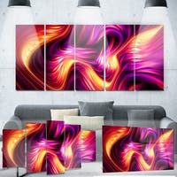Designart 'Pink and Orage Fluidity' Metal Wall Art