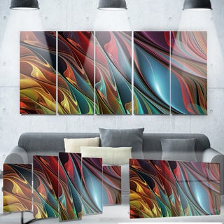 Designart 'Leaves of Color' Metal Wall Art