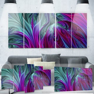 Designart 'Purple and Green Jungle' Metal Wall Art
