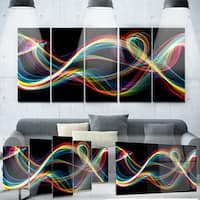 Designart 'Colored Smoke' Metal Wall Art