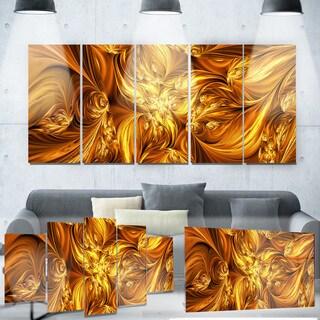 Designart 'Molten Gold Exchange' Metal Wall Art