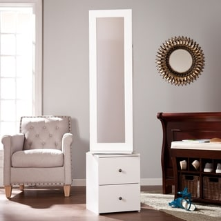 Harper Blvd Dylan White Swivel Jewelry Armoire