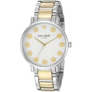 Kate Spade Women's 1YRU0738 Silver and Gold Two-tone Stainless Steel Bracelet Watch