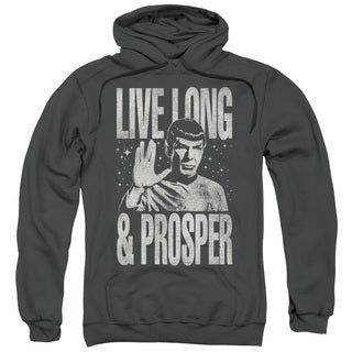Star Trek/Prosper Adult Pull-Over Hoodie in Charcoal