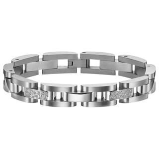 Cambridge Diamond Accent Steel Bracelet