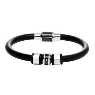 Cambridge Stainless Steel Silica Gel Beaded Bracelet