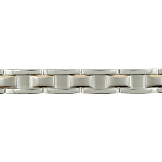 Cambridge Steel Link/Rose IP Bracelet