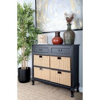 Black Wood & Sea Grass Dresser