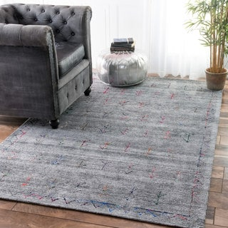 nuLOOM Handmade Arrowhead Tribal Grey Rug (7'6 x 9'6)