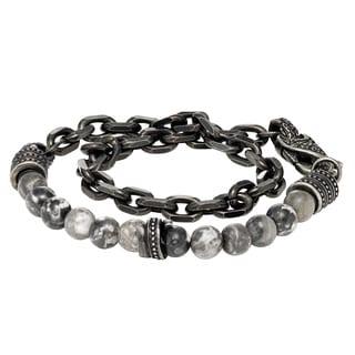 Cambridge Double-wrapped Jasper Beaded Bracelet