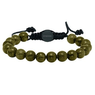 Cambridge 10-millimeter Green Quartz Beaded Adjustable Bracelet