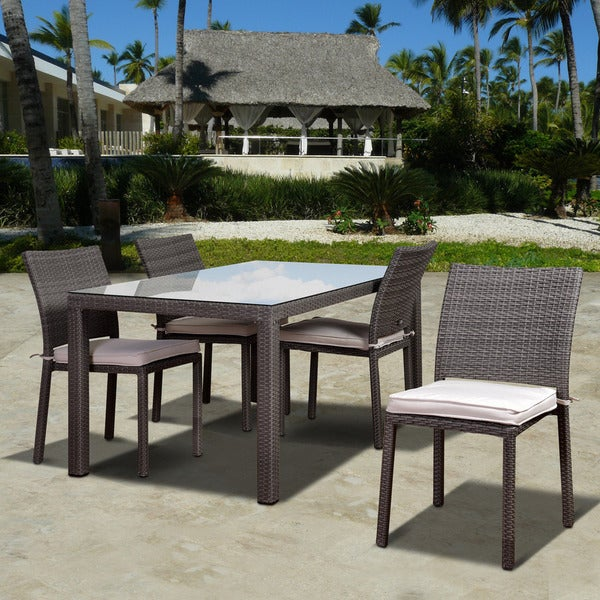 Atlantic Liberty Grey 5-piece Rectangular Patio Dining Set