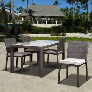 Atlantic Liberty Grey 5-piece Rectangular Patio Dining Set