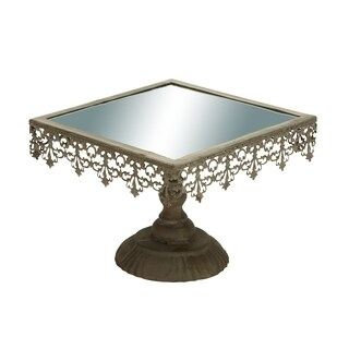 Mirrored Metal Cupcake Stand with Ornate Trim