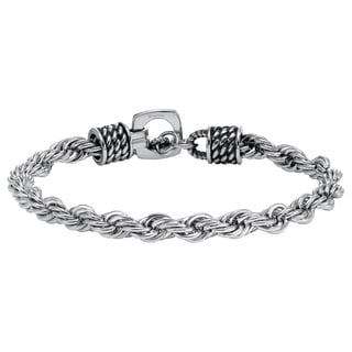Cambridge Stainless Steel 8.5-inch Rope Bracelet