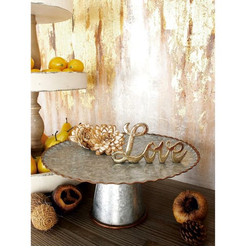 Galvanized Cake Stand Set in Assorted Sizes (Set Of 3)