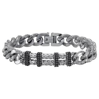 Cambrige Jewelry Silver Stainless-steel Link Bracelet