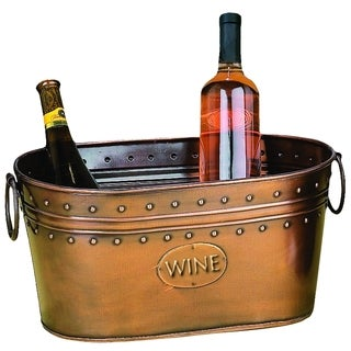 29298 Rich Copper Finish Metal Wine Cooler