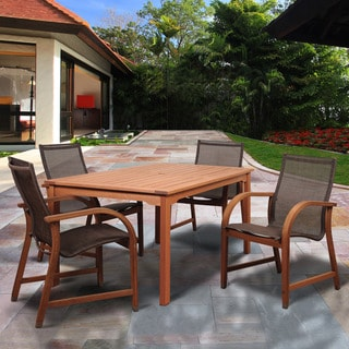 Amazonia Cosmopolitan Brown Wood 5-piece Rectangular Patio Dining Set