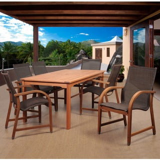 Amazonia Cosmopolitan Brown 7-piece Rectangular Patio Dining Set