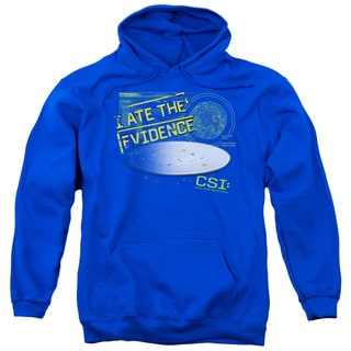 CSI/I Ate The Evidence Adult Pull-Over Hoodie in Royal Blue