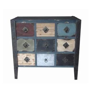 Entrada Vintage-Inspired Multicolor Distressed Wood Finished Dresser
