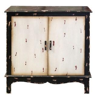 Benzara Entrada Vintage-style Multicolored Wooden Large Storage Cabinet