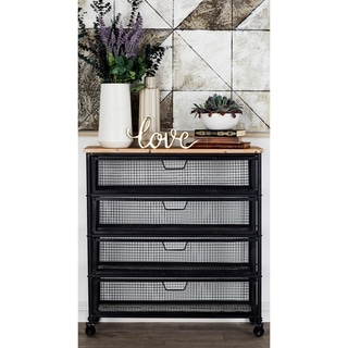 50265 Metal Wood Storage Frame Cabinet