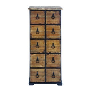 10-Drawer Antiqued Dresser