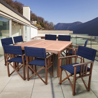 Amazonia Orlando Blue 9-piece Square Patio Dining Set
