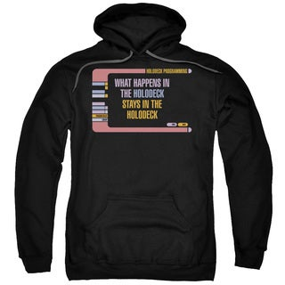 Star Trek/Holodeck Secrets Adult Pull-Over Hoodie in Black