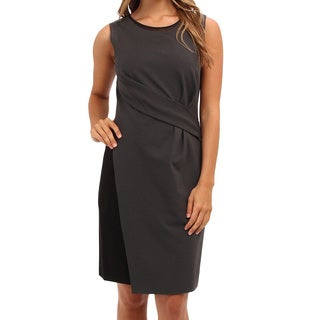 Elie Tahari Women's Bennett Charcoal Viscose Sleeveless Dress