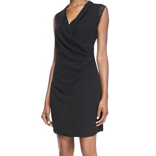 Elie Tahari Women's Kinsley Black Rayon Sleeveless Shift Dress