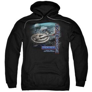 Star Trek/Enterprise Nx 01 Adult Pull-Over Hoodie in Black