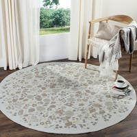 Martha Stewart by Safavieh Watercolor Garden Cloud Wool Rug - 4' Round