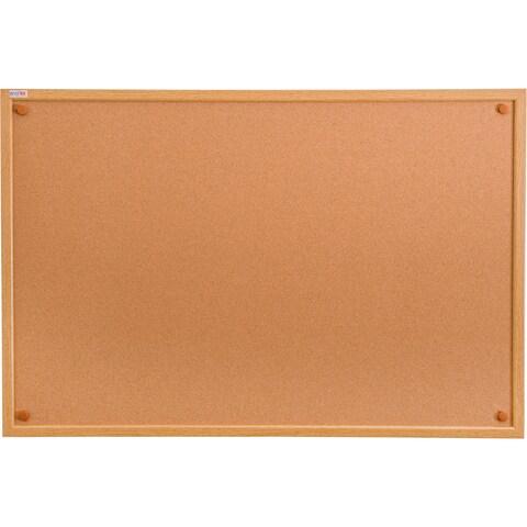 Viztex Cork Bulletin Board with Oak Effect Frame