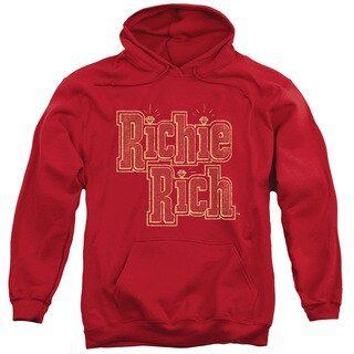 Richie Rich/Stacked Adult Pull-Over Hoodie in Red