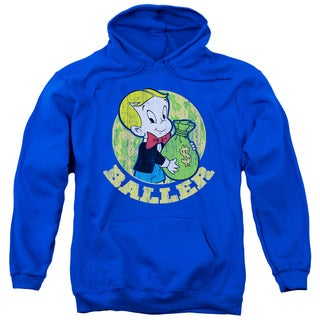 Richie Rich/Baller Adult Pull-Over Hoodie in Royal Blue