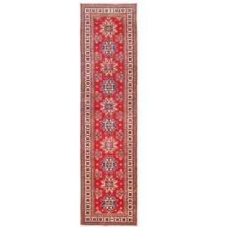 Herat Oriental Afghan Hand-knotted Kazak Wool Runner(2'8 x 10'7)
