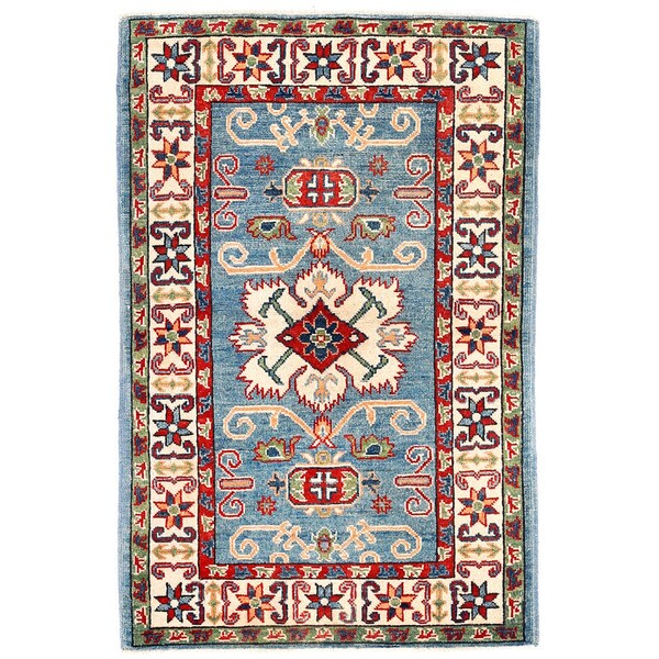 Herat Oriental Afghan Hand-knotted Kazak Wool Rug - 2'9 x 4'3