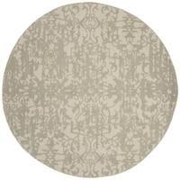 Safavieh Handmade Restoration Vintage Light Sage/ Grey Wool Distressed Area Rug - grey/light sage - 6' Round
