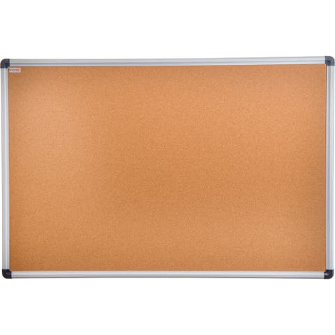 "Viztex Cork Bulletin Board with Aluminium Trim Size 24"" x 36"""