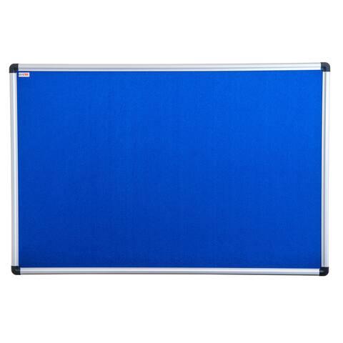 "Viztex Fabric Bulletin Board Aluminium Frame Size 24"" x 36"""