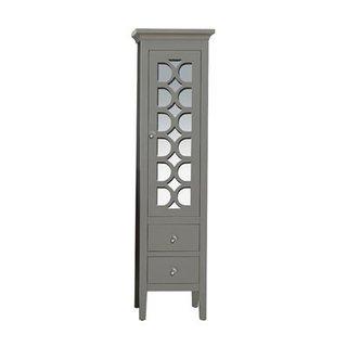 Mediterraneo Maple Finish Wood/Glass Side Cabinet