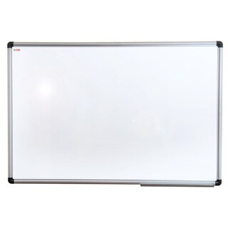 Viztex Lacquered Steel Magnetic Dry Erase Board with Aluminium Frame