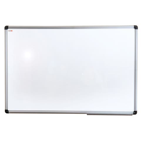 """Viztex Lacquered Steel Magnetic Dry Erase Board Aluminium Frame Size 18"""" x 24"""""""