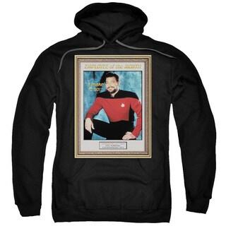 Star Trek/Employee Of Month Adult Pull-Over Hoodie in Black
