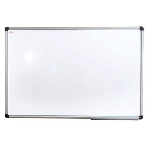 "Viztex Porcelain Magnetic Dry Erase Board with Aluminium Frame Size 24"" x 18"""